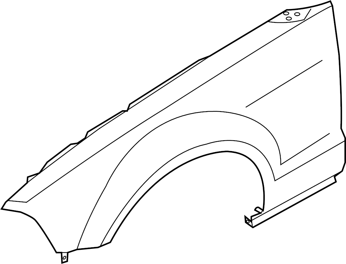 ford mustang fender assembly
