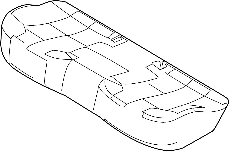Ford Police Interceptor Sedan Seat Cover Rear Seat