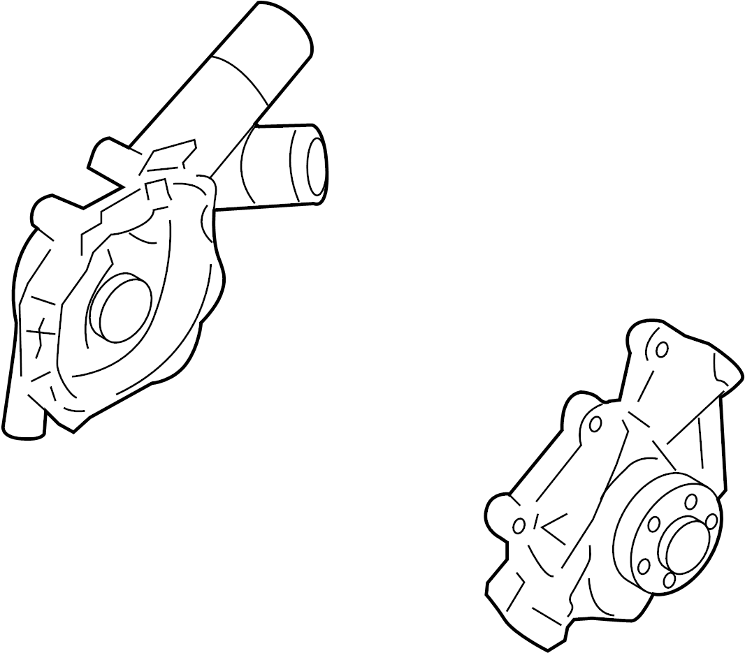 Ford Escape Engine Water Pump Asy