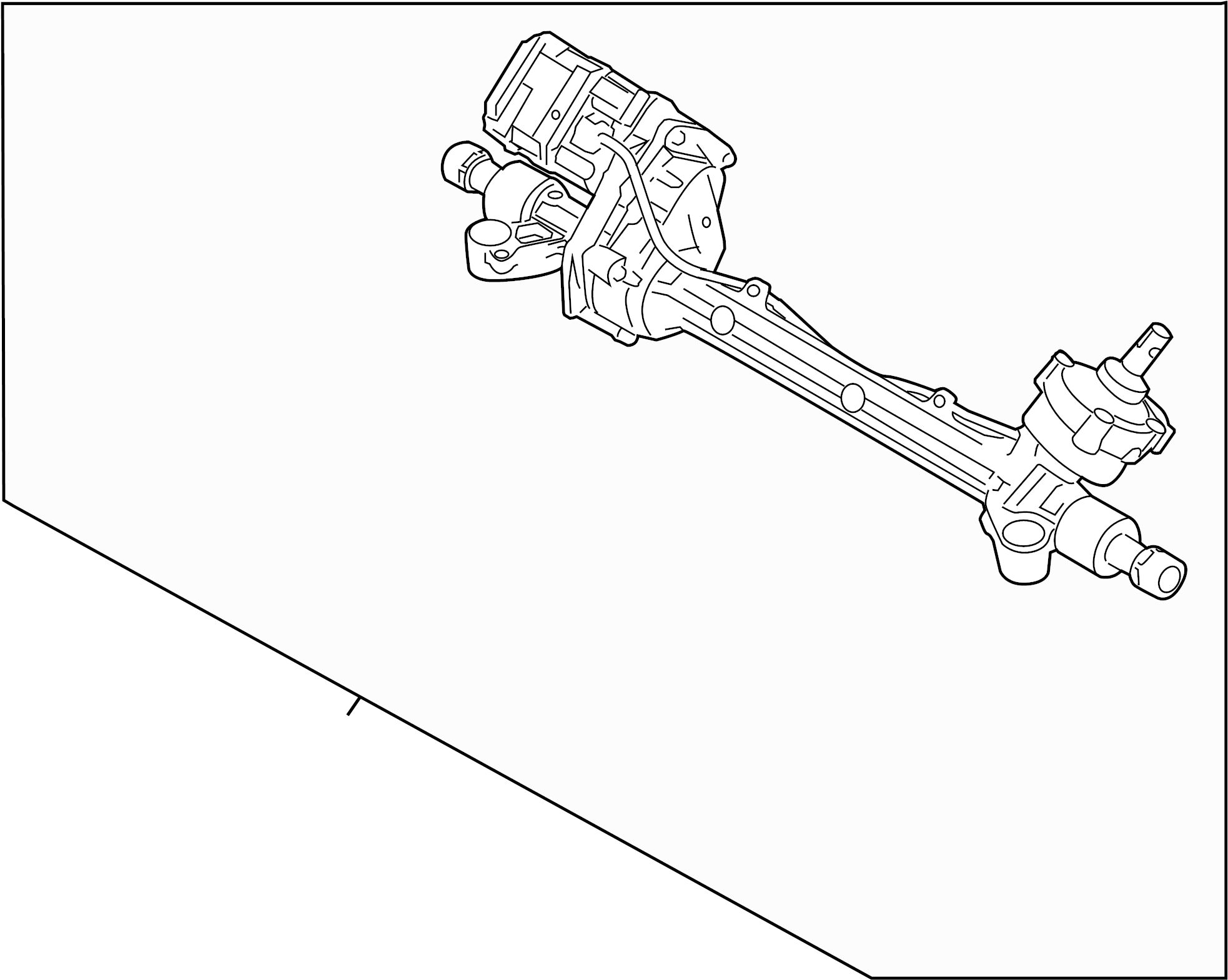 Ford Fusion Rack And Pinion Assembly. STEERING, Gear