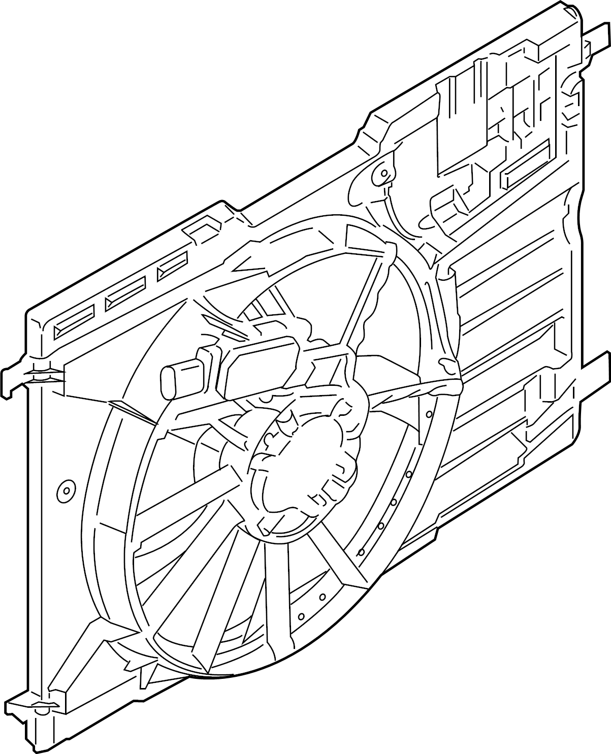 Ford Focus Engine Cooling Fan Assembly Liter