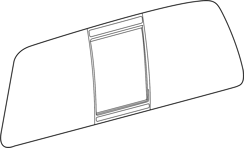 Ford F 250 Super Duty Back Glass Sliding Window W O