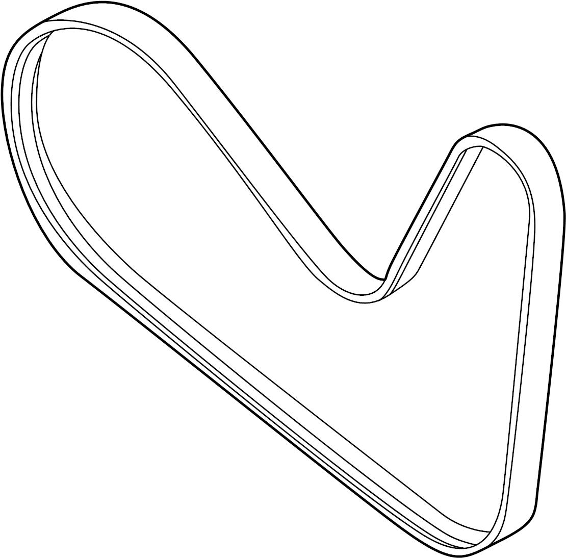 Ford Taurus X Accessory Drive Belt Liter Pulleys Belts