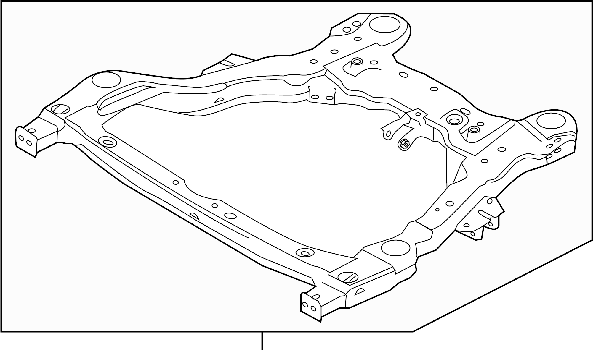 Ford Explorer Suspension Subframe Crossmember Front