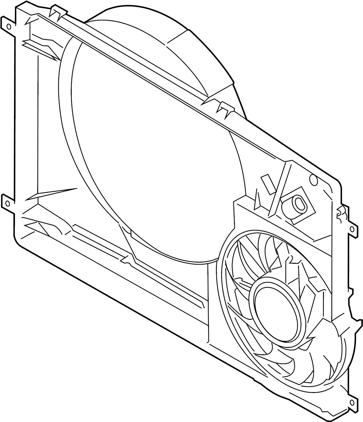 Ford Transit 150 Engine Cooling Fan Assembly 3 2 Liter