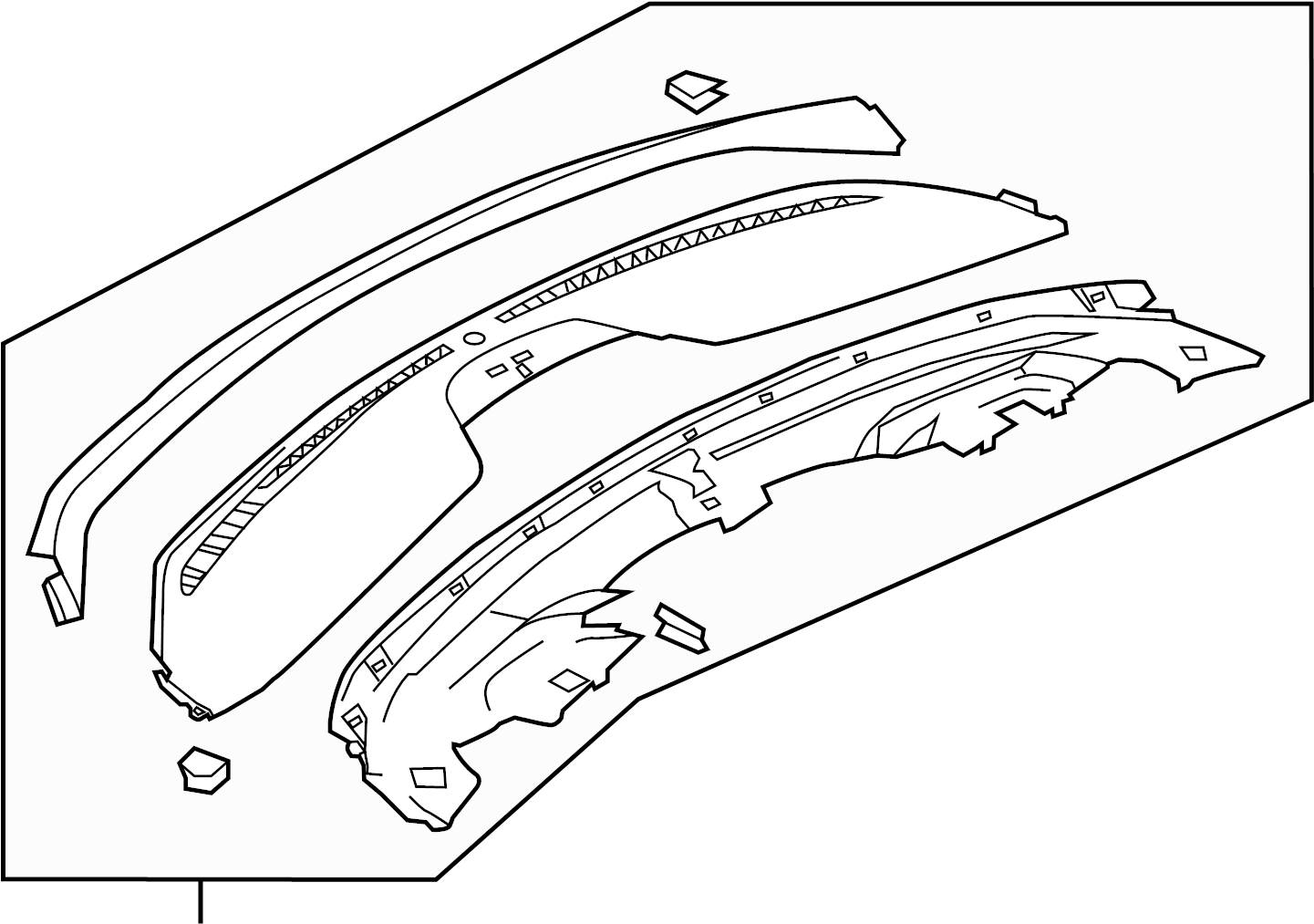 Ford Dashboard Air Vent Trim Upper Adaptive
