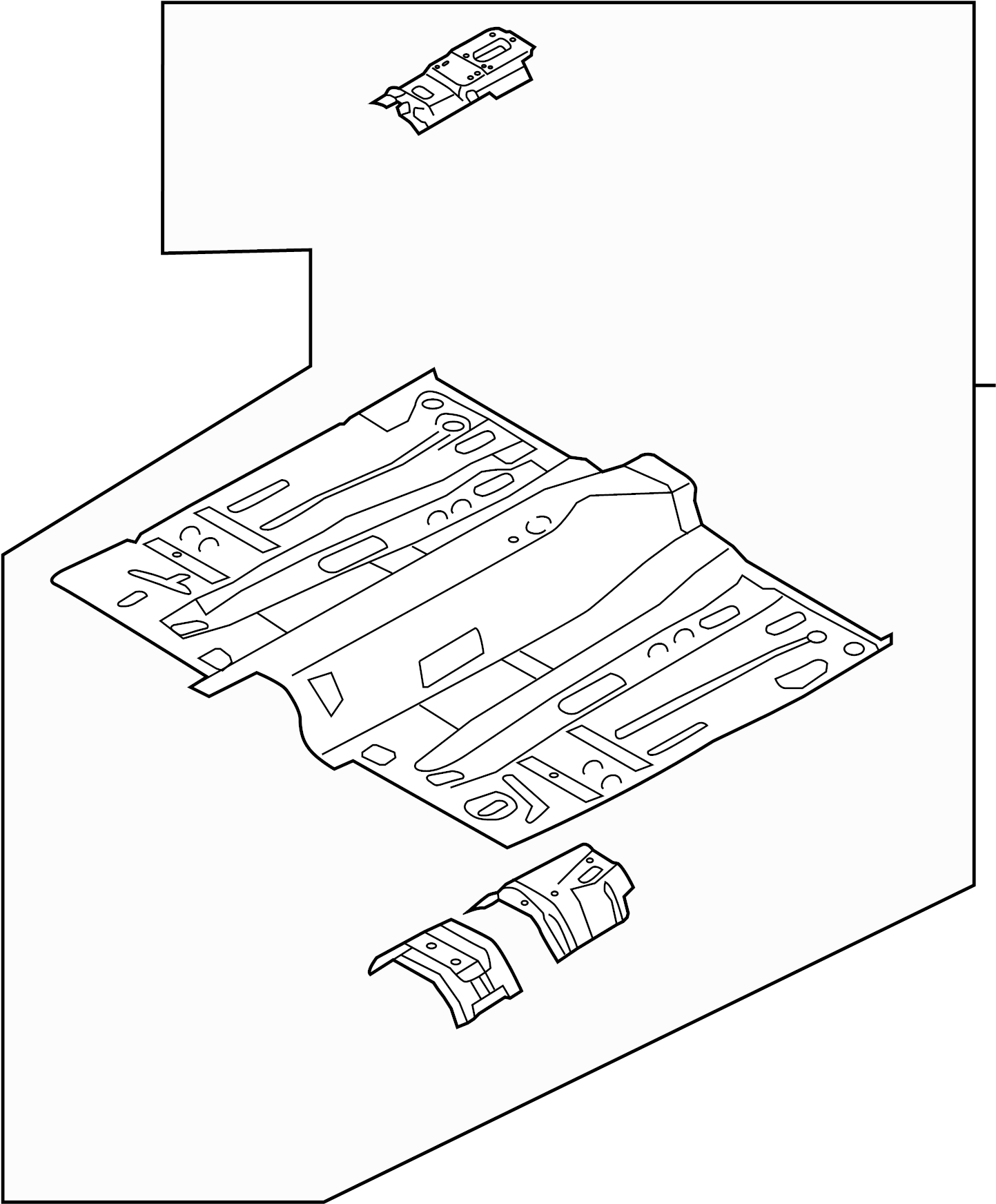 Ford Floor Pan Front Rear