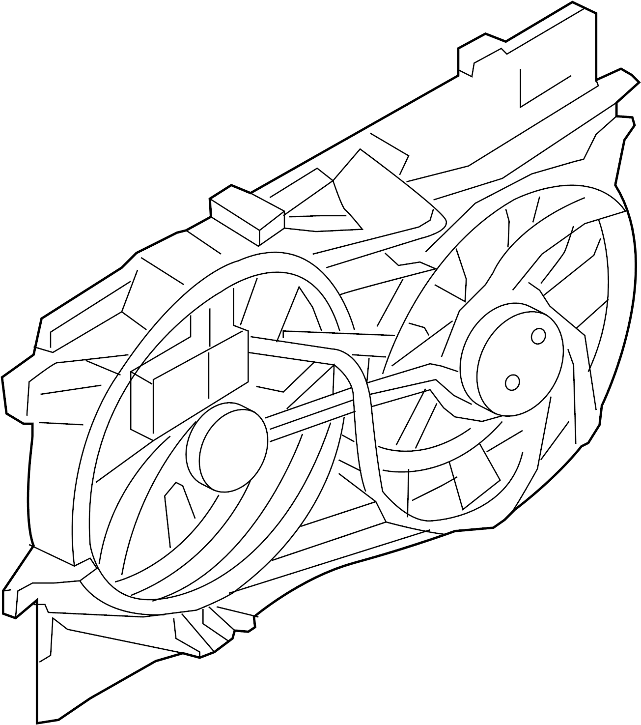 Ford Edge Fan And Motor Motor And Fan Assembly