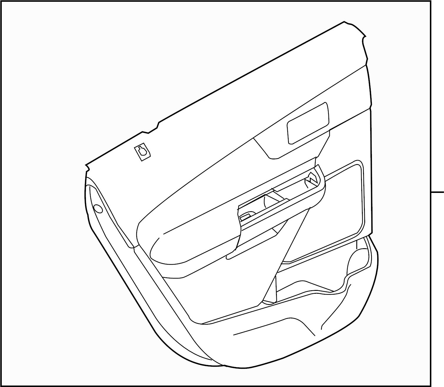 Ford Edge Door Interior Trim Panel Rear Sport