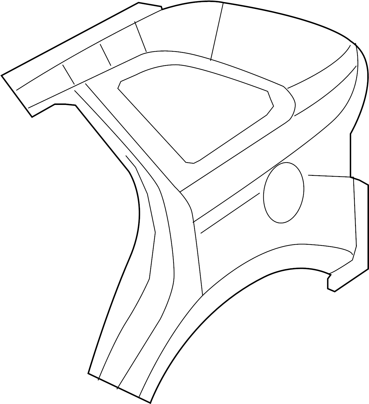 Ford Edge Quarter Panel Rear Right Outer Body