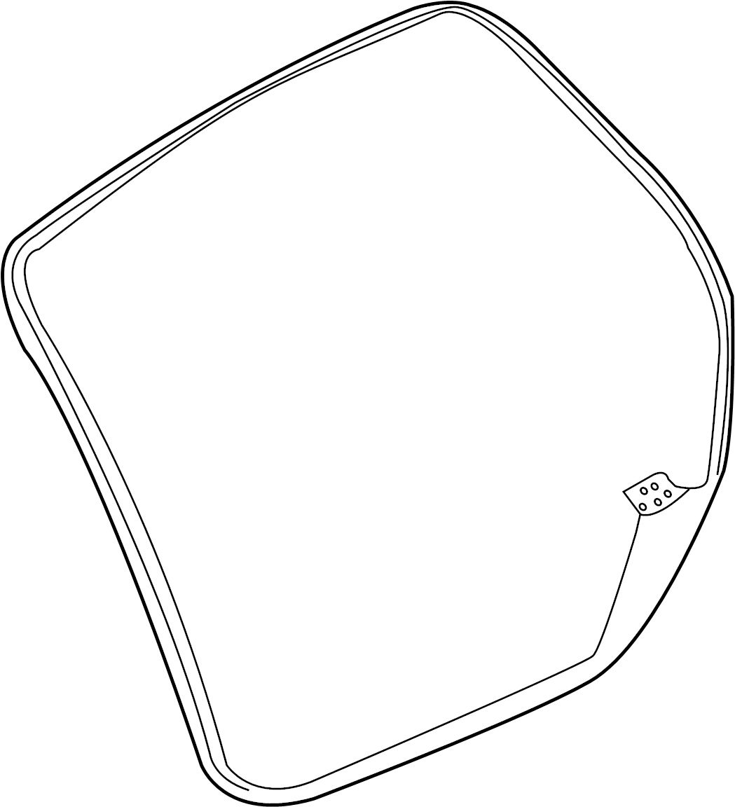 Ford Edge Hatch Seal Upper Lift Gate Body