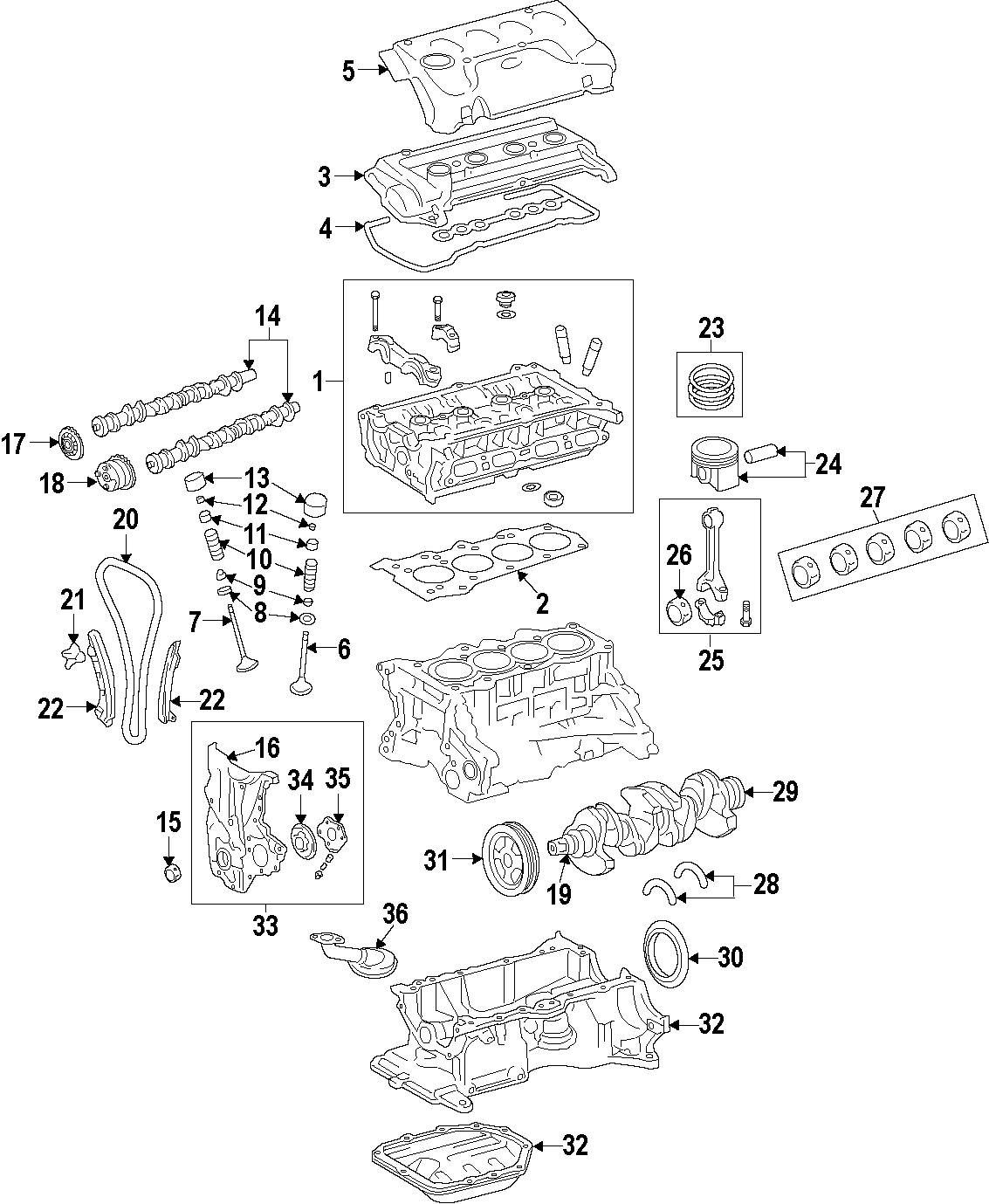 toyota tailgate parts diagram