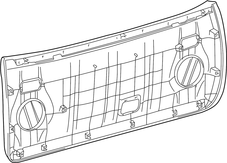 Toyota 4runner Liftgate Trim Cover Upper Lower