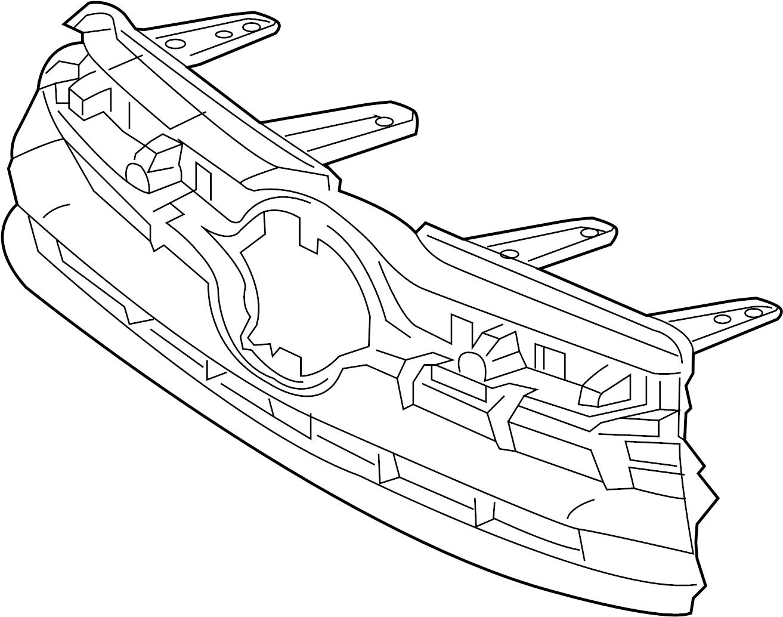 Toyota Highlander Grille Upper