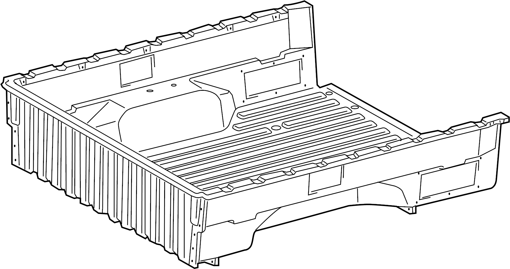 Toyota Tacoma Truck Bed Assembly Rear Wlongbed