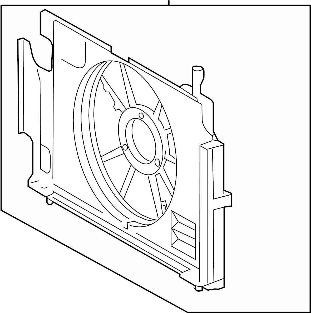 Toyota Prius C Engine Cooling Fan Shroud Fan Shroud