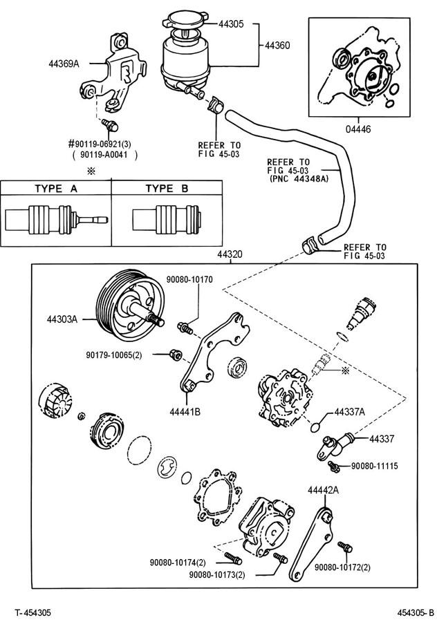 Steering Toyota Power Pump 1986
