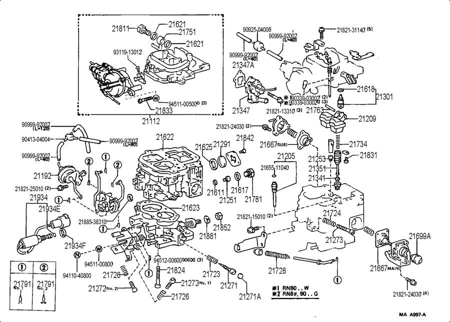 1986 Toyota Pickup Carburetor Diagram