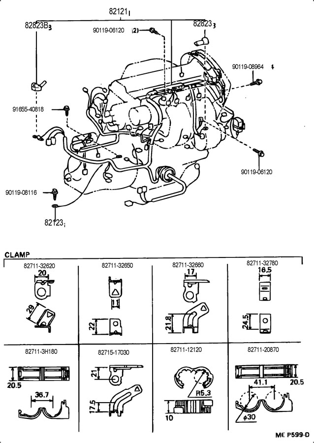 Toyota Mr2 Clamp Wiring Harnes