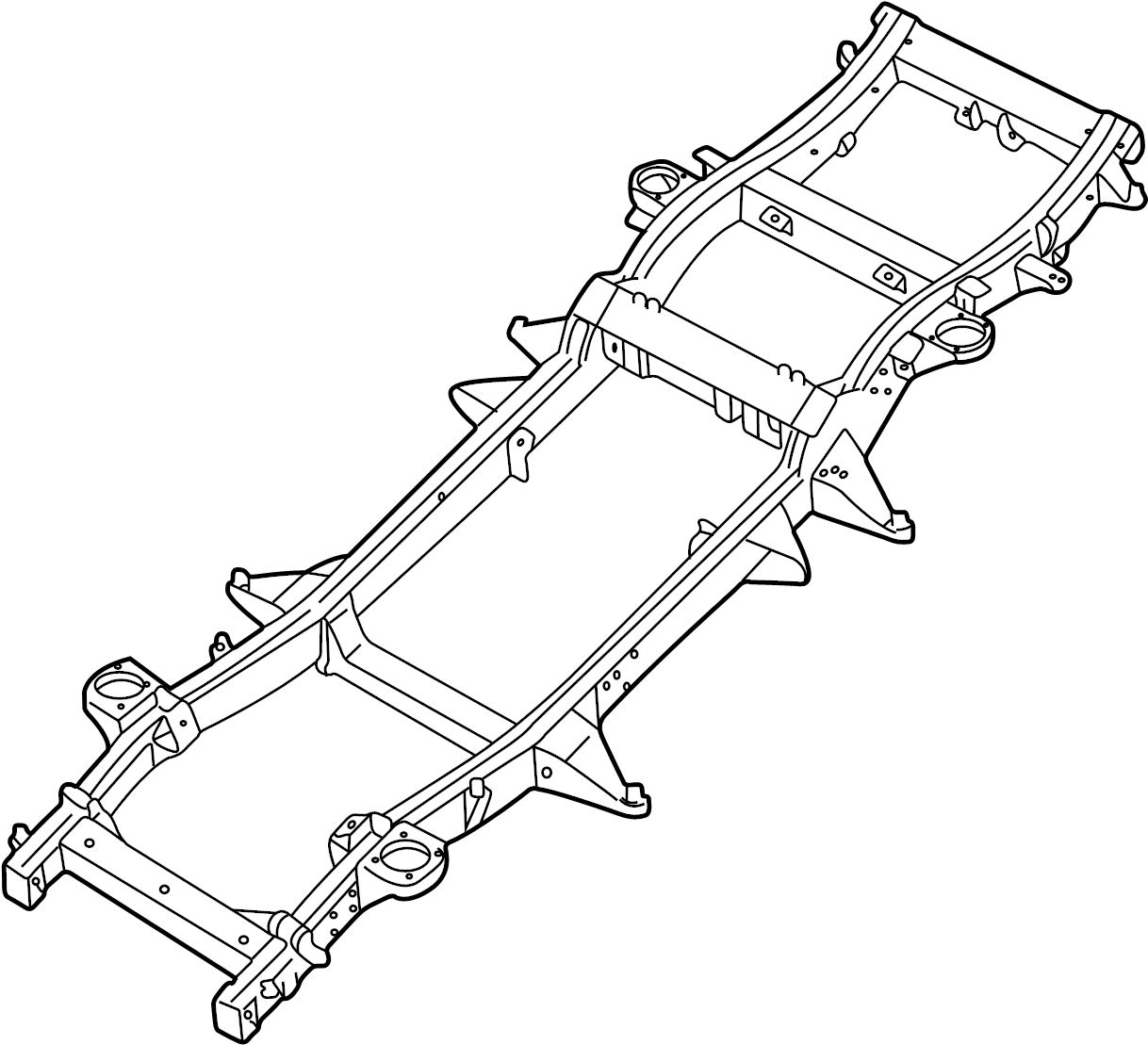 Land Rover Discovery Frame Crossmember Rear
