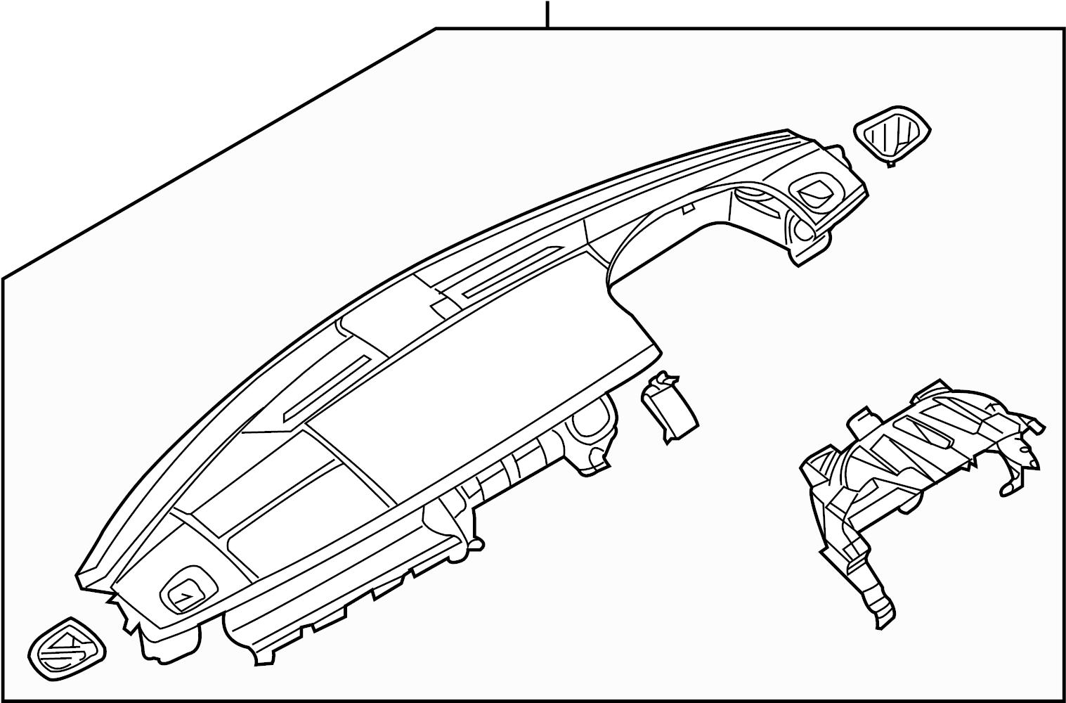 Land Rover Lr4 Dashboard Panel Instrument Panel