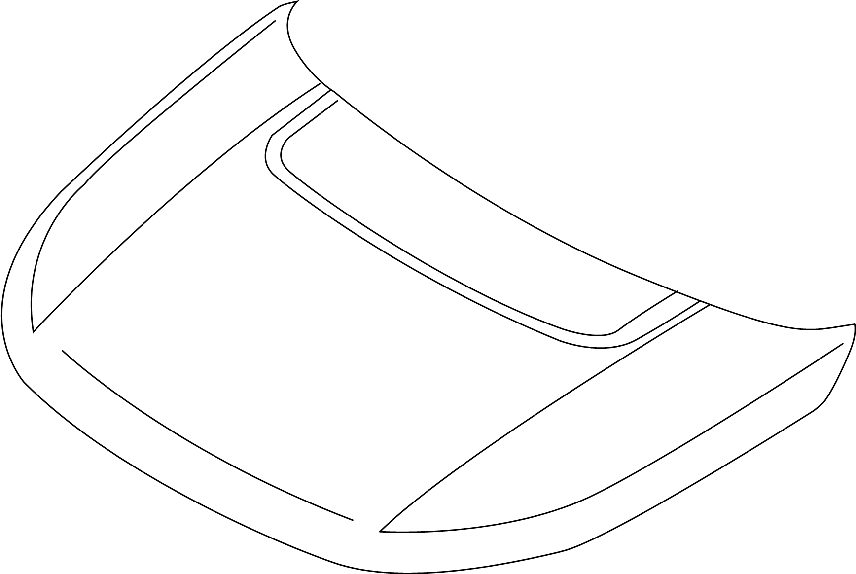 Land Rover Discovery Sport Hood Molding Black Used