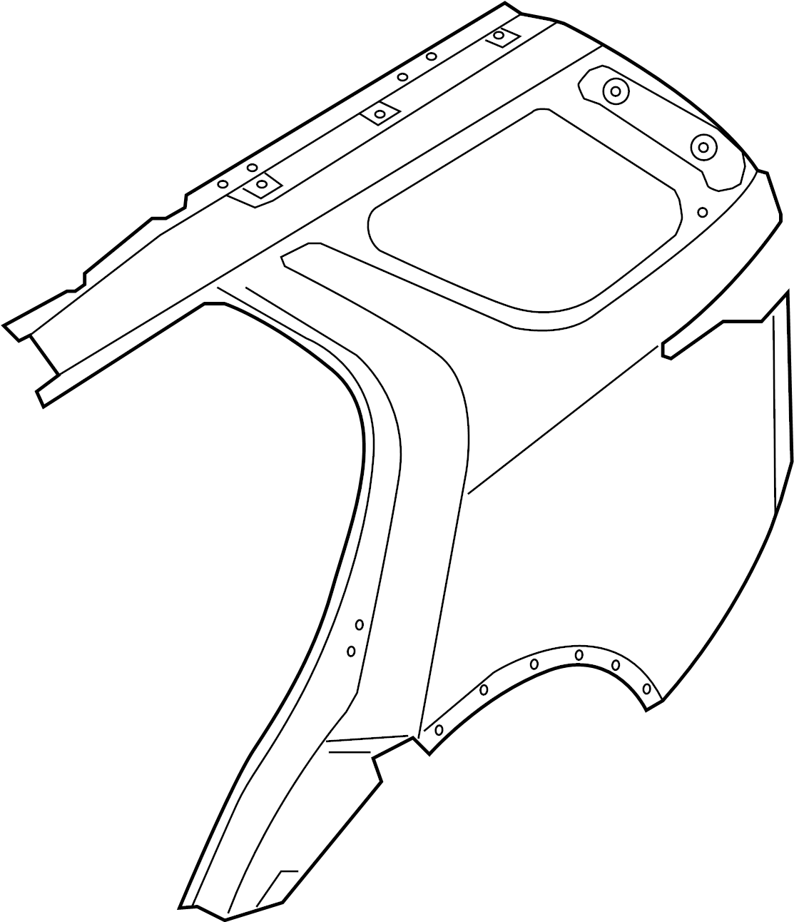 Land Rover Discovery Quarter Panel Rear Body Outer