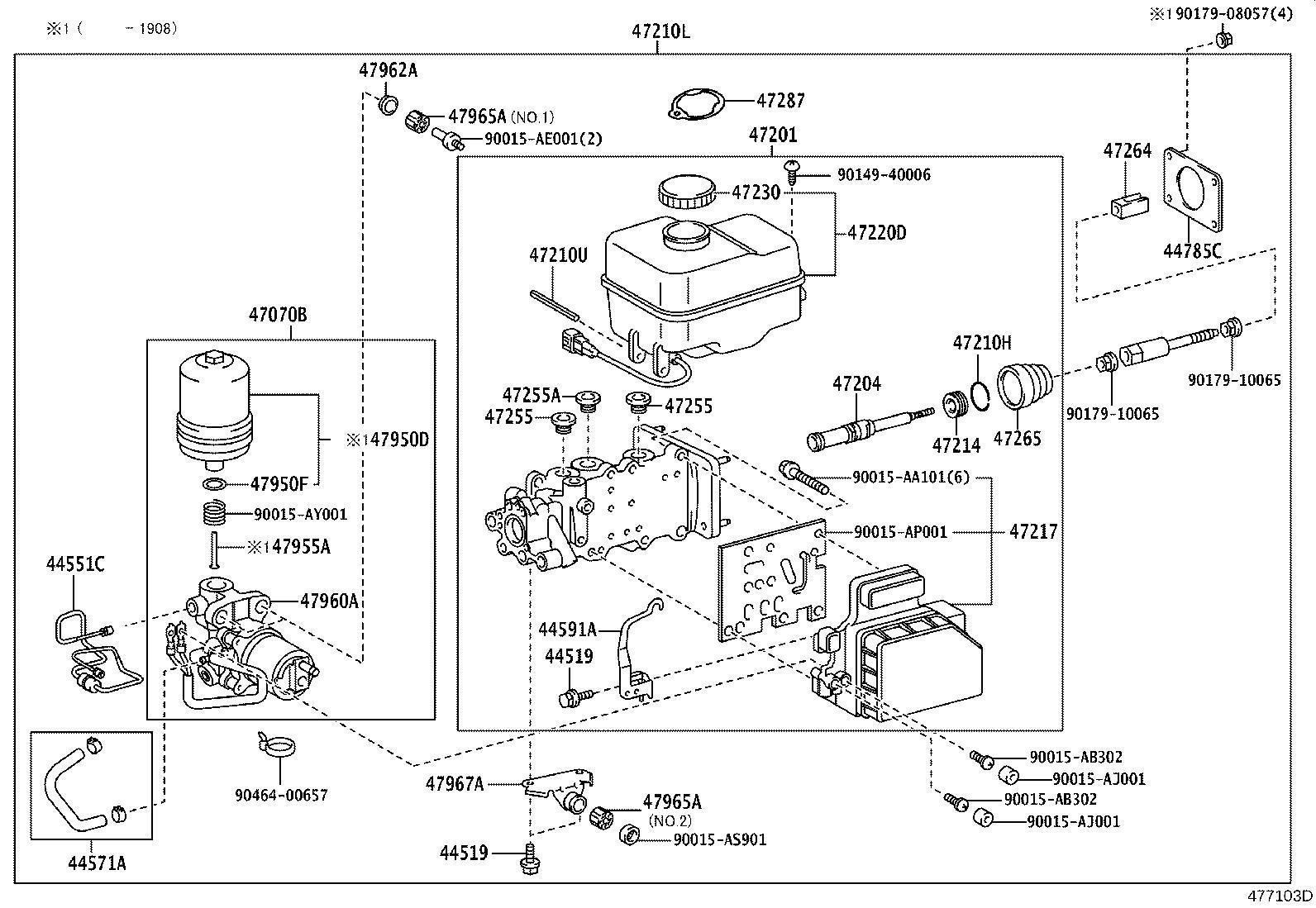 Lexus Gx 460 Pump Assembly Brake Booster With Accumulator