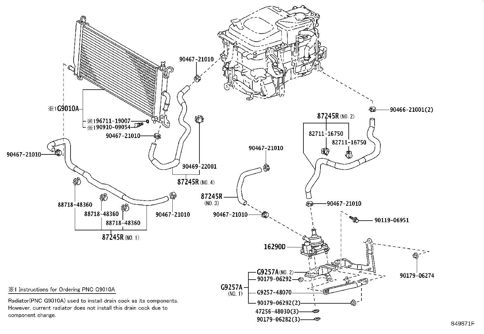 Lexus Rx 400h Drive Motor Inverter Cooler Water Pump
