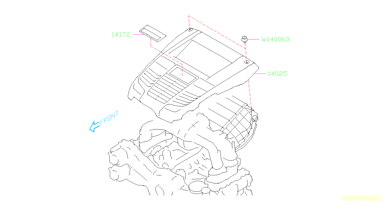 Subaru Wrx Ornament Engine Cover Cooling