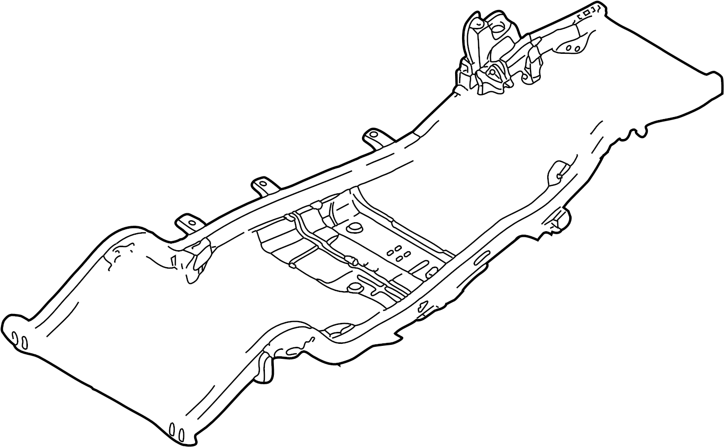 Toyota Tacoma Frame Crossmember Crossmember Frame No 5