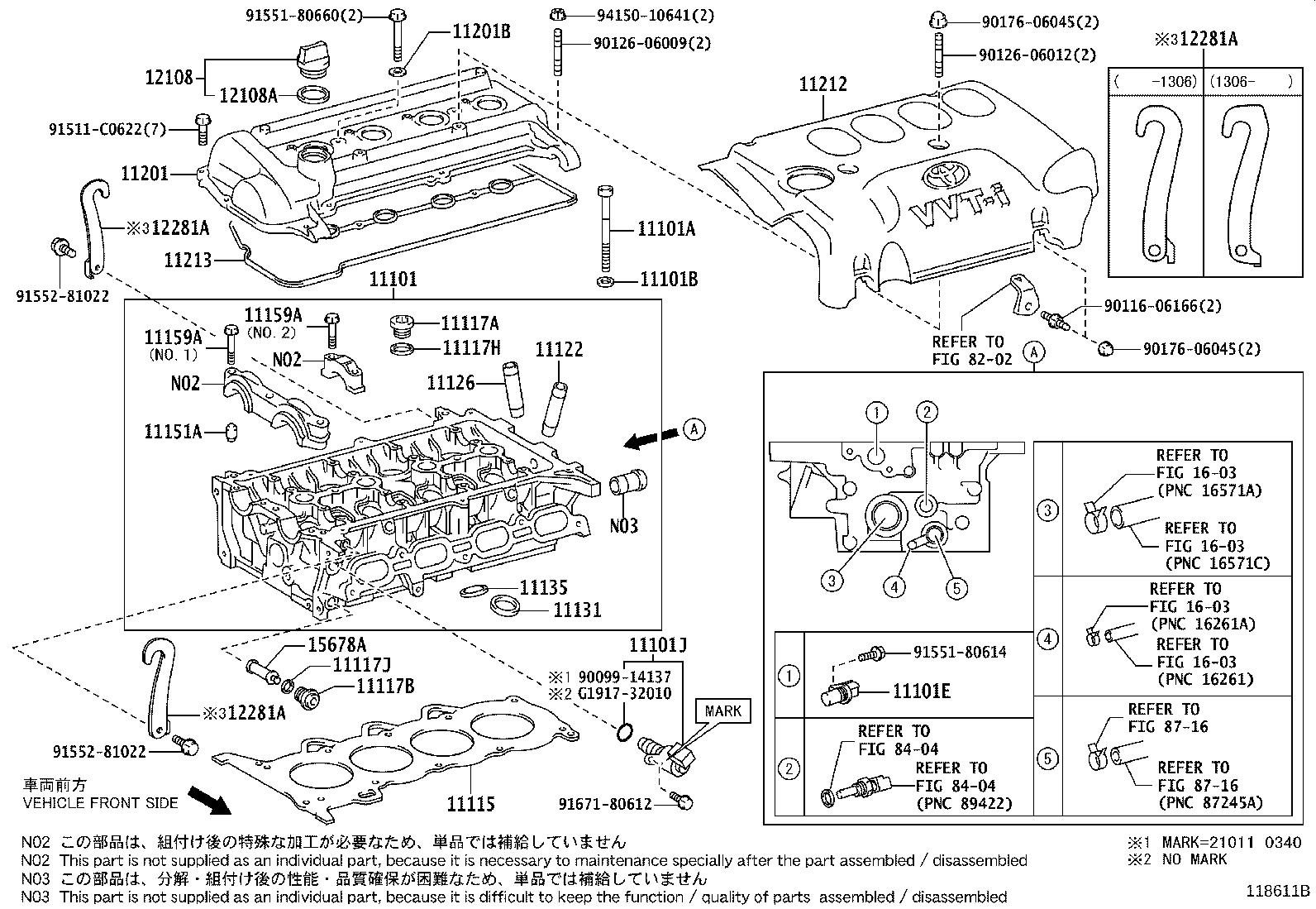 Toyota Yaris Engine Valve Cover Cover Cylinder Head Idn