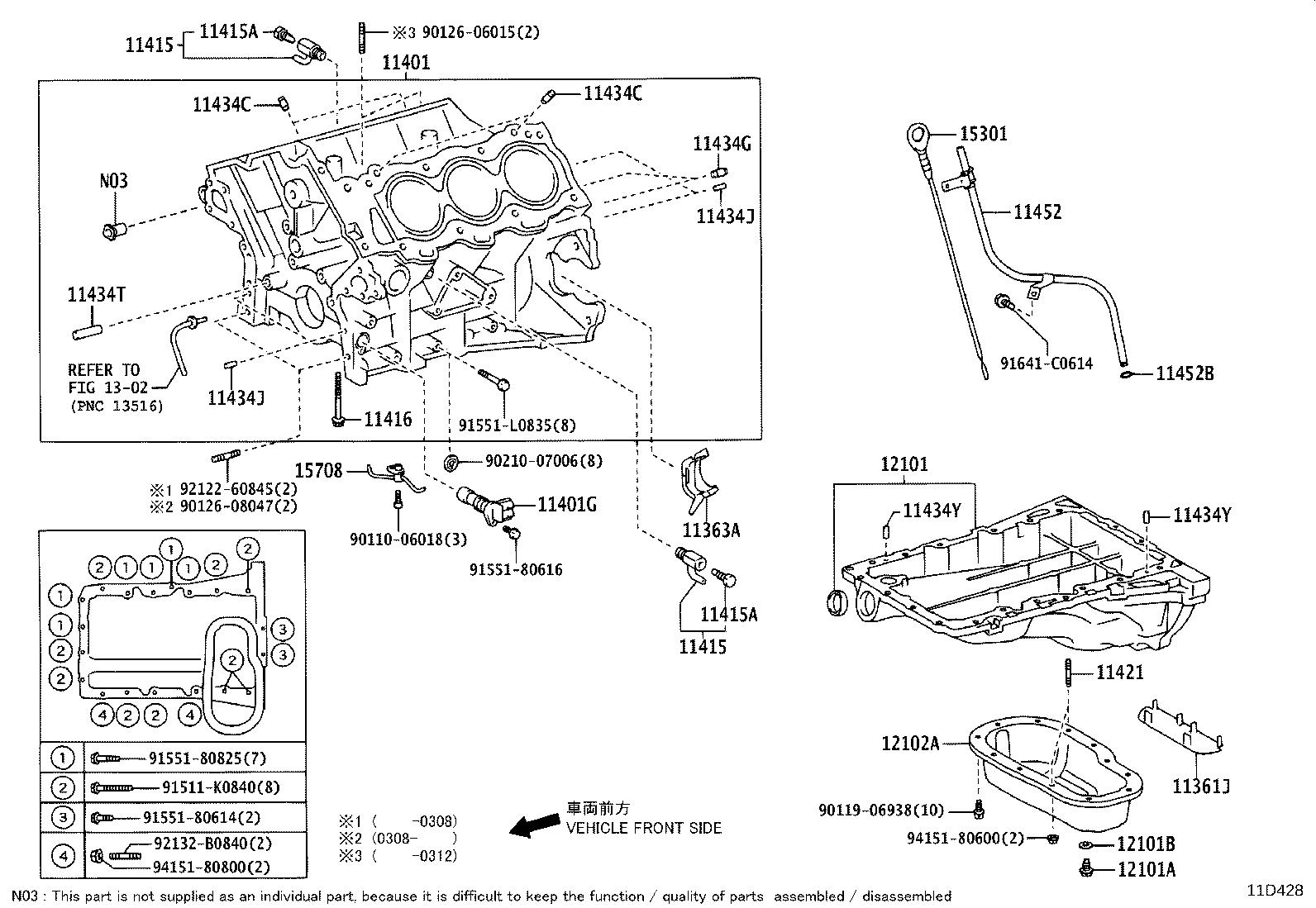 Toyota 4runner Block Sub Assembly Cylinder Engine