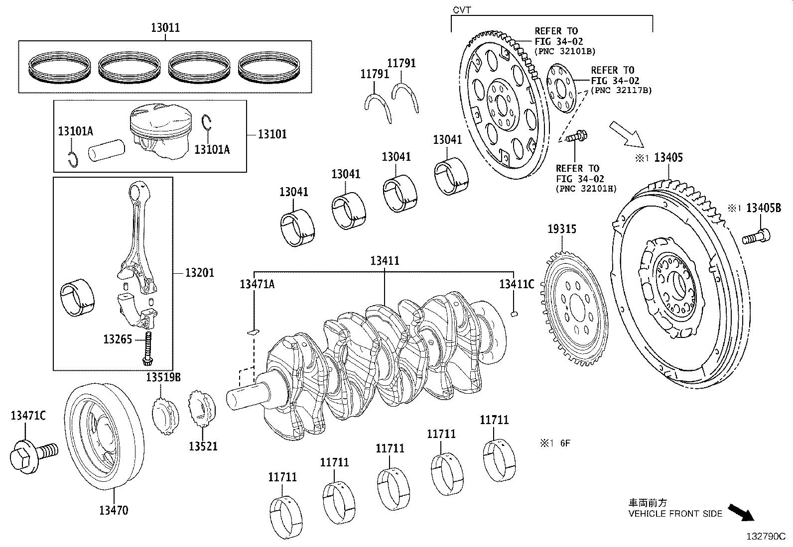 Toyota Corolla Hatchback Rod Sub Assembly Connecting Mark A Repair Engine Manual
