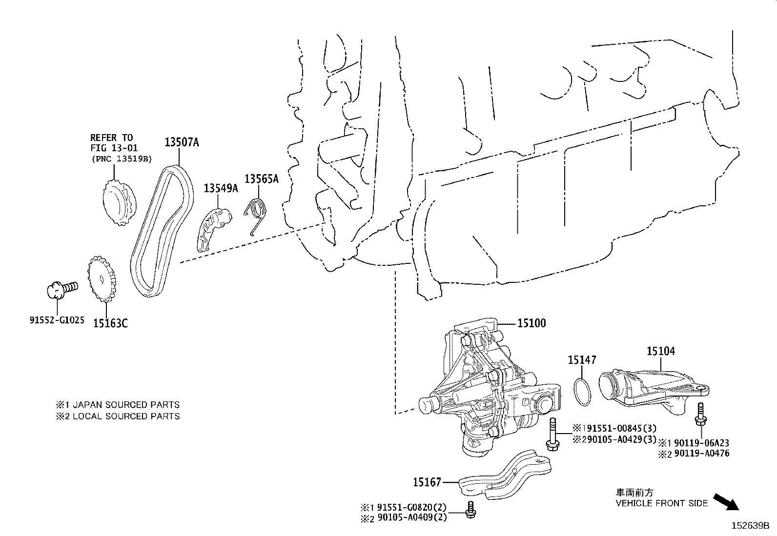 Toyota Camry Engine Oil Pump An Engine Oil Pump For A