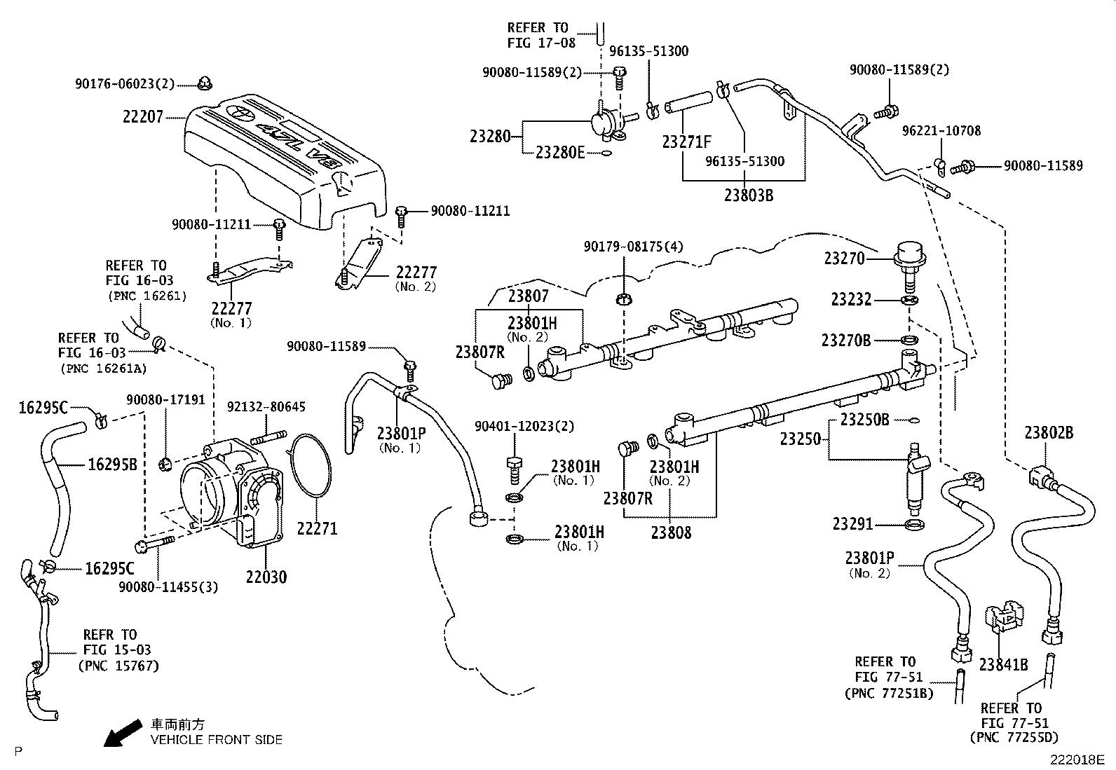 Toyota Tundra Pipe Sub Assembly Fuel No 2 System