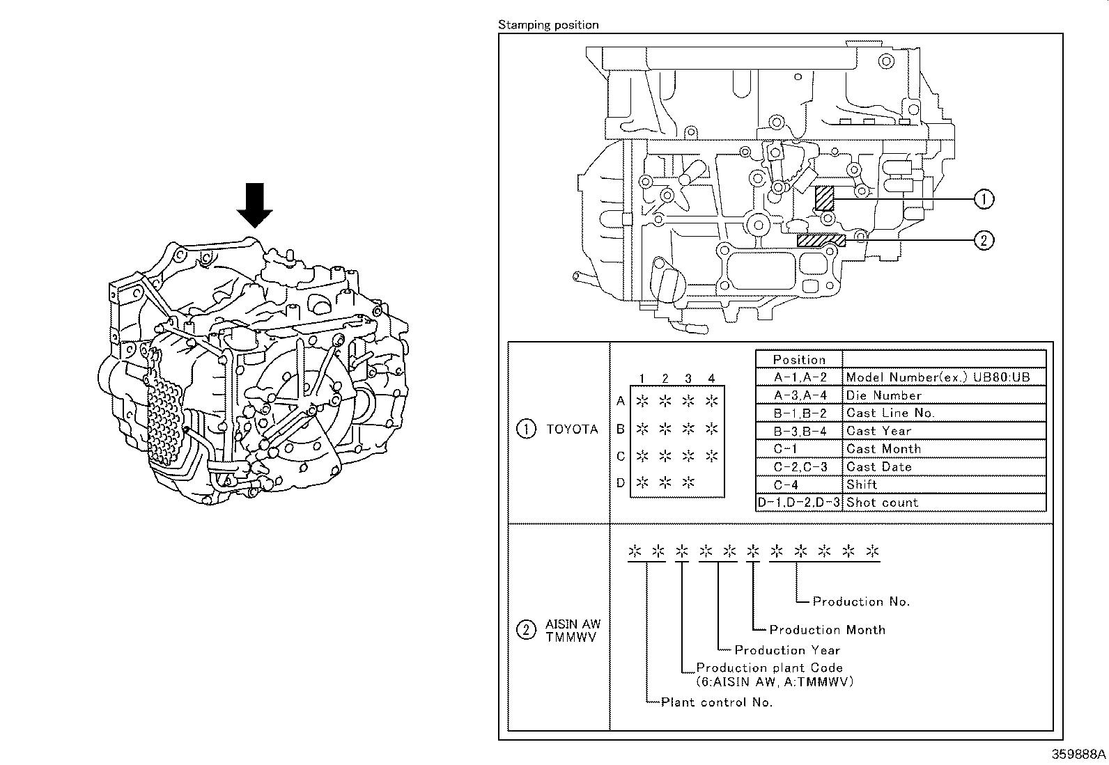 Toyota Camry Automatic Transmission Driveline Atm