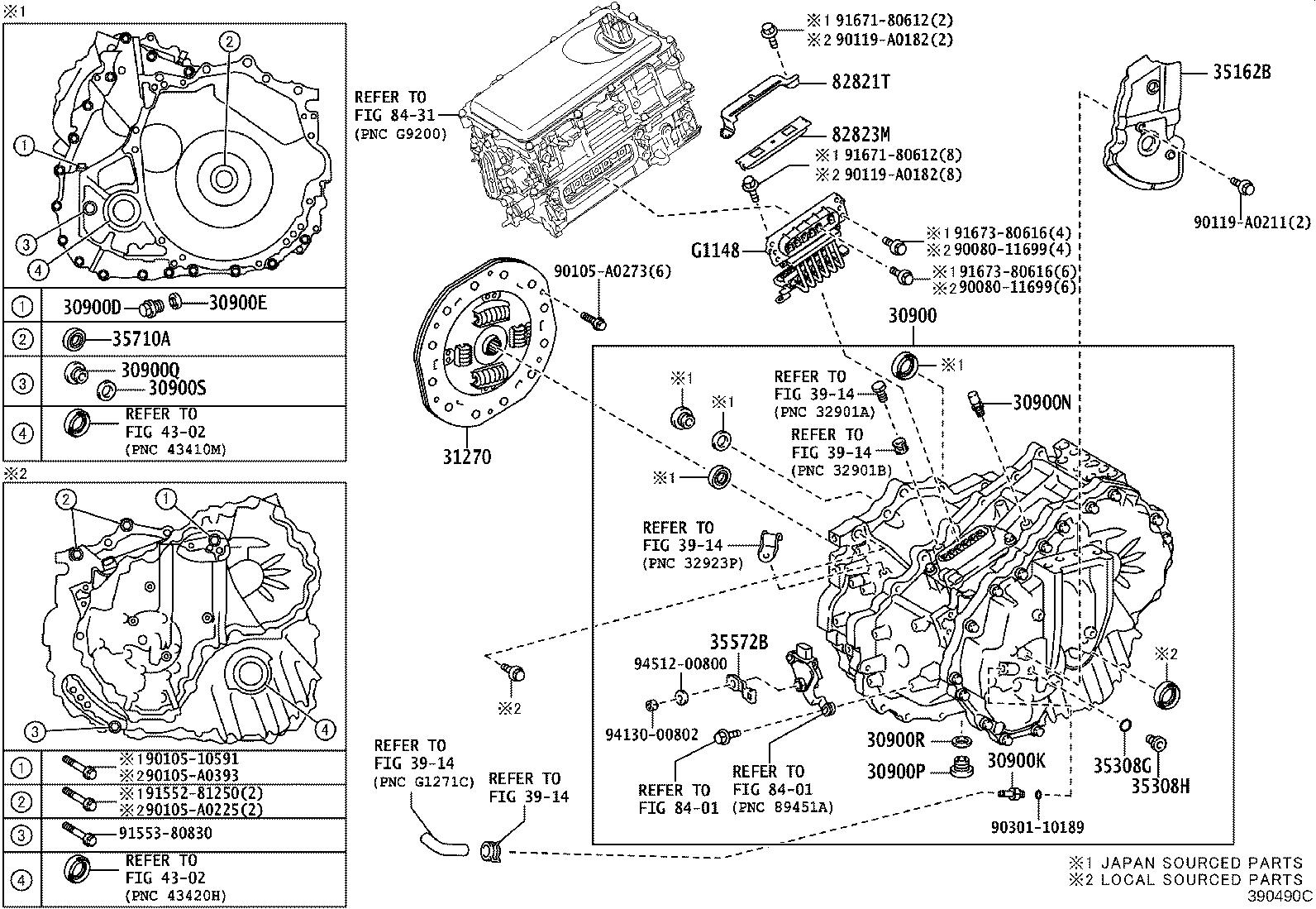 Toyota Camry Drive Motor Inverter Connector Transmission