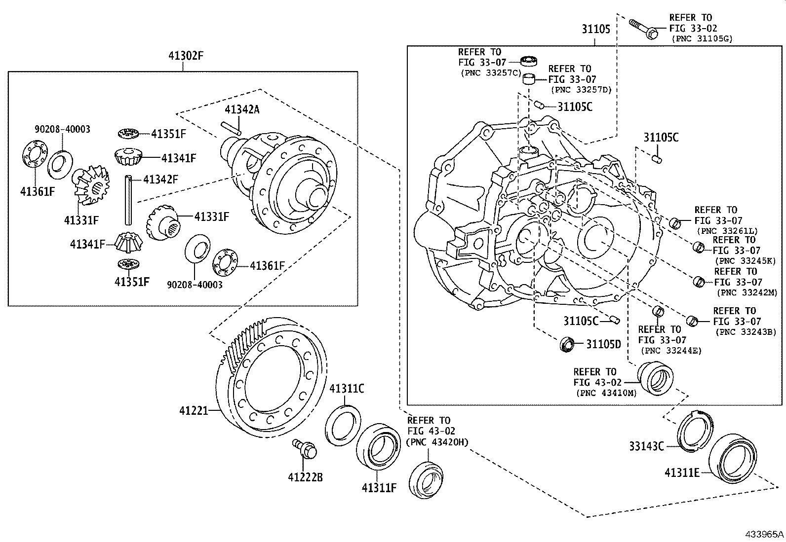 Toyota Corolla Hatchback Gear Front Differential Ring