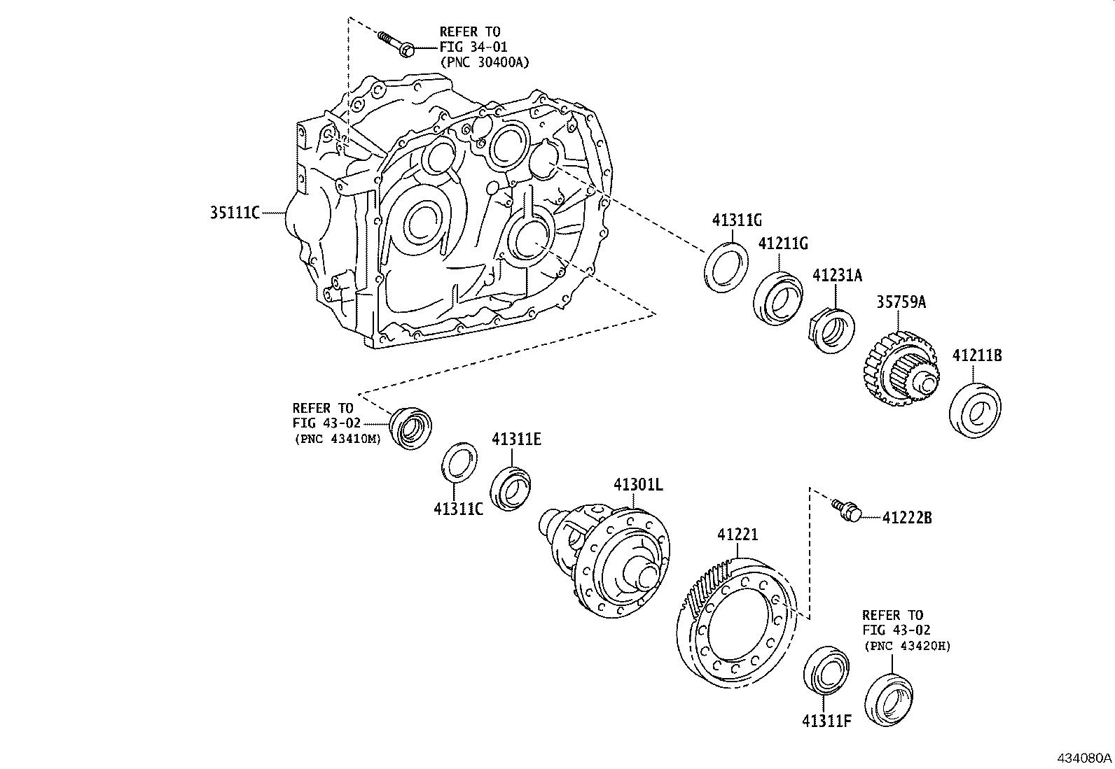 Toyota Corolla Case Front Transaxle Mtm Differential