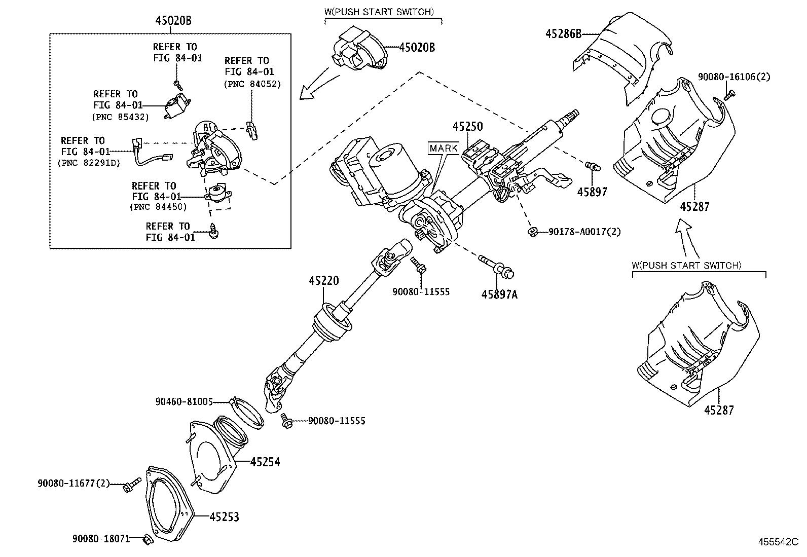 Toyota Sienna Shaft Assembly Steering Intermediate