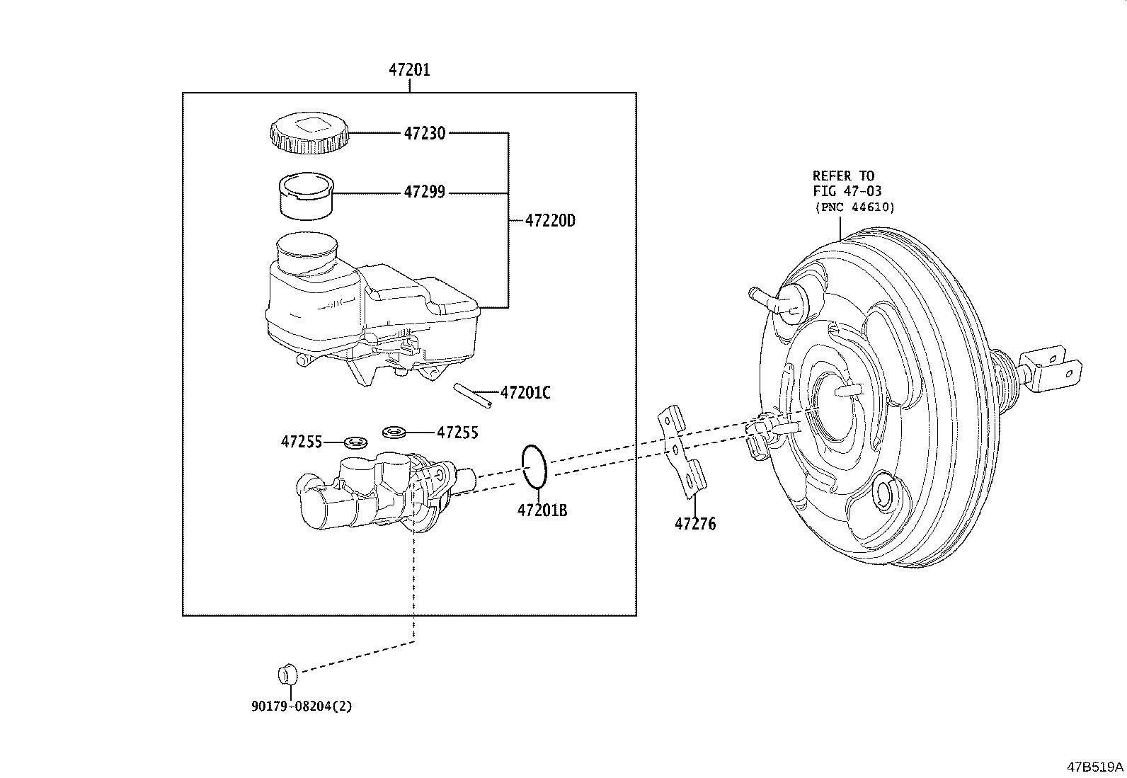 Toyota Corolla Brake Booster Assembly With Master