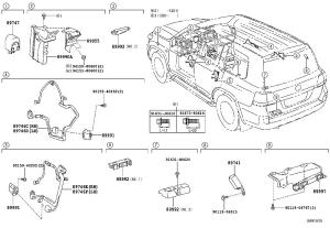 Toyota Land Cruiser Antenna assembly, indoor electrical