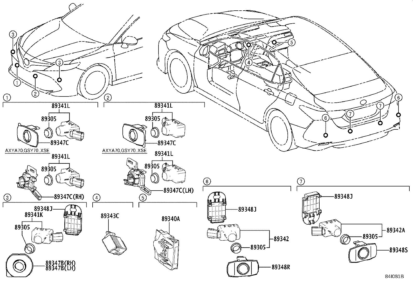 Toyota Camry Parking Aid Control Module Computer