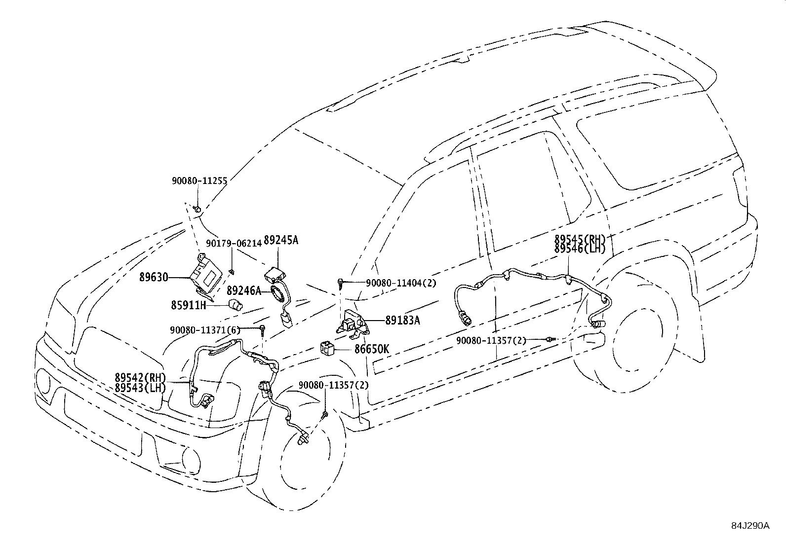 Toyota Sequoia Computer Assembly Translate Electrical