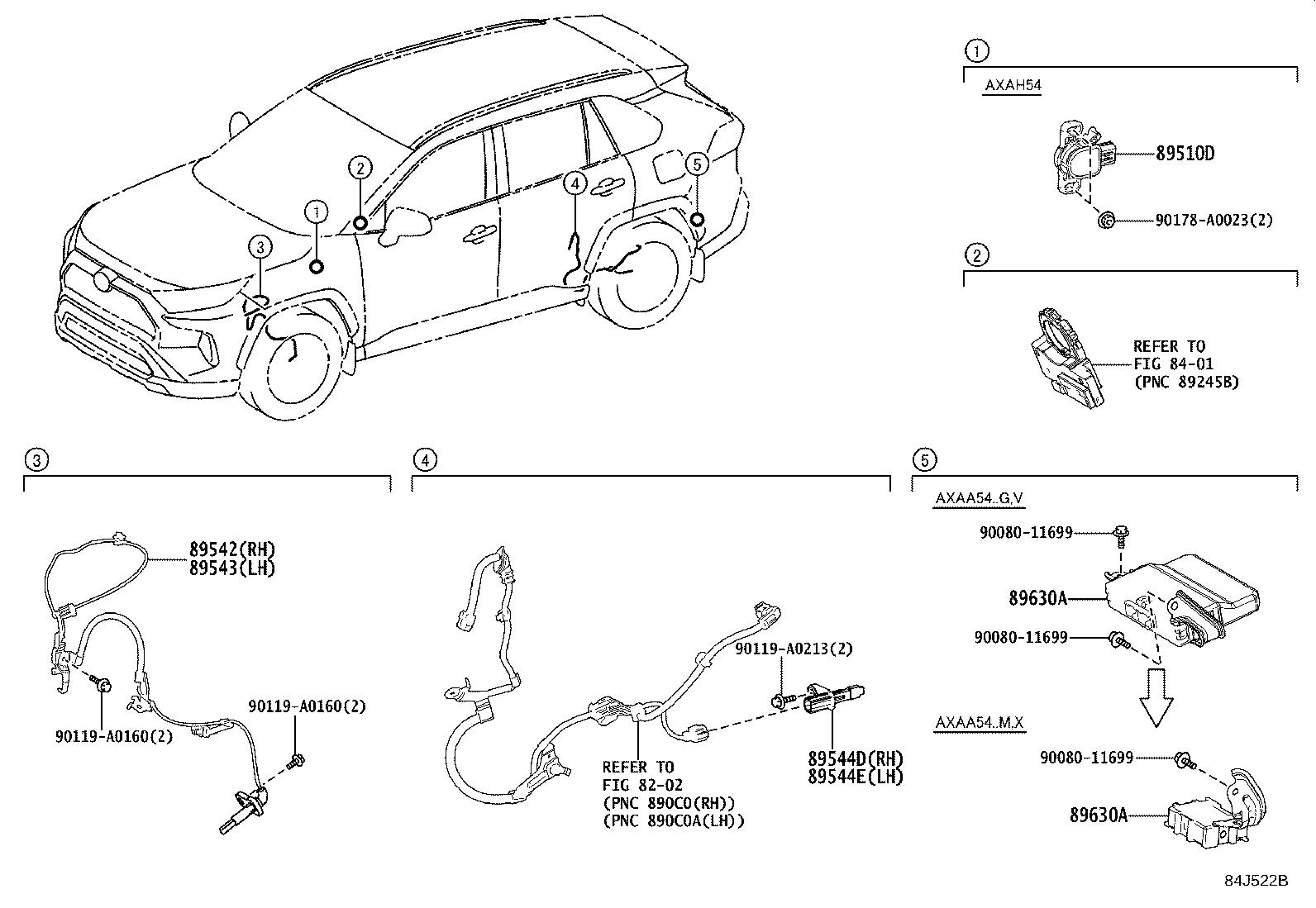 Toyota Rav4 Computer Assembly 4wd Electrical Vsc Abs