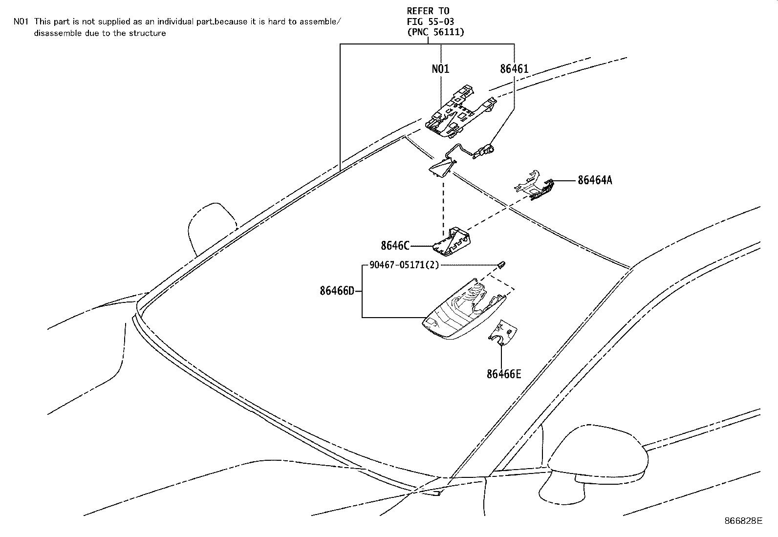 Toyota Camry Camera Forward Recognition Electrical
