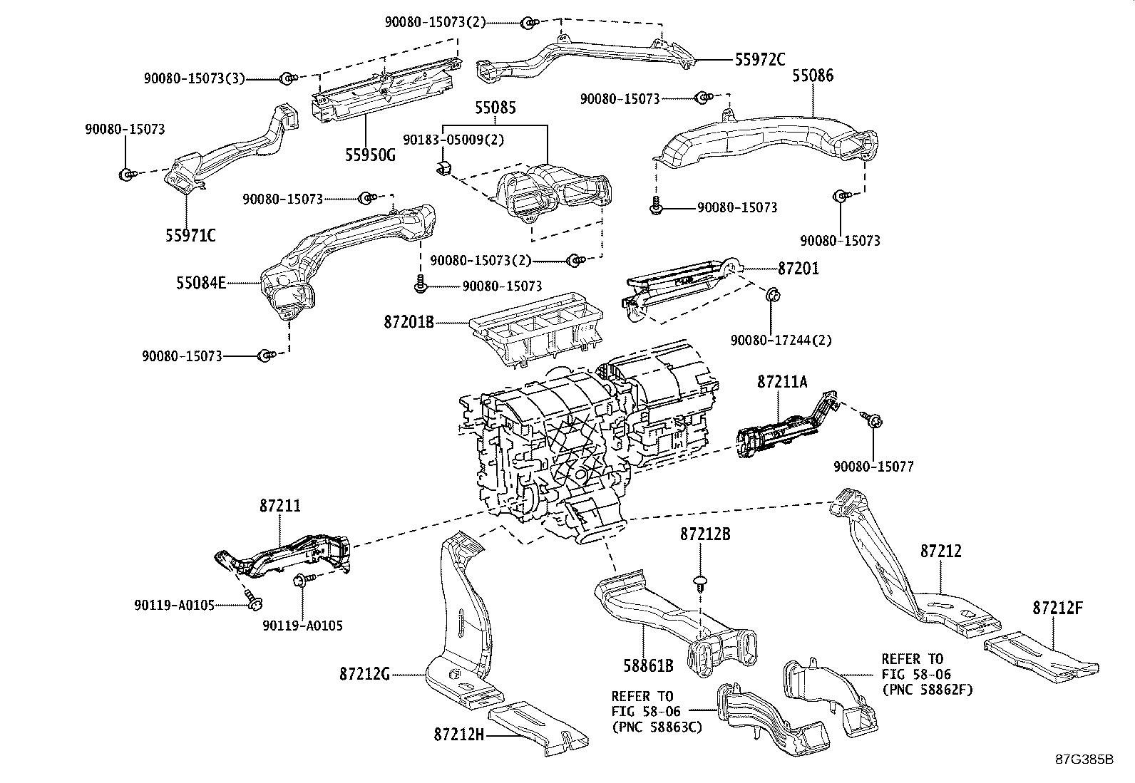 Toyota Camry Control Assembly Air Conditioner Display