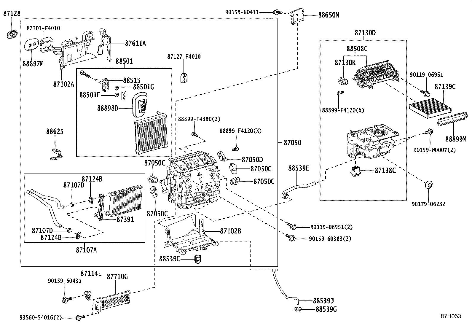 Toyota C Hr Parts Cooling Unit Conditioning Air