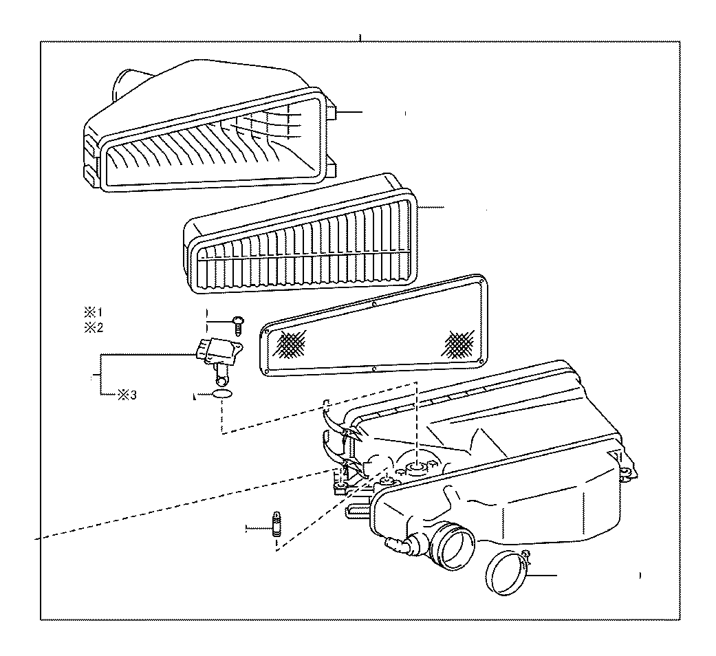 Toyota 4runner Cleaner Assembly Air With Engine